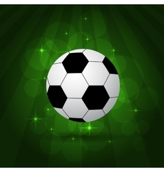 Soccer balls on pitch vector