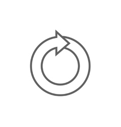 Circular arrow line icon vector