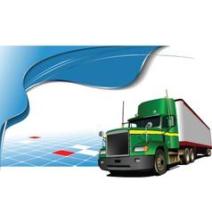 Truck poster vector