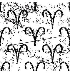 Aries pattern grunge monochrome vector