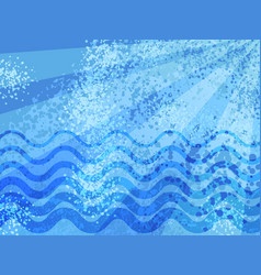 Blue summer sea cartoon abstract background vector