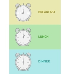 Breakfast Lunch and Dinner vector image vector image