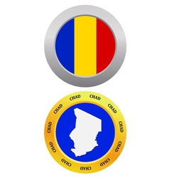 button as a symbol map CHAD vector image vector image
