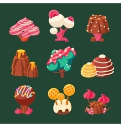 Cartoon sweet candy land vector