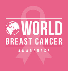 collection world breast cancer day vector image