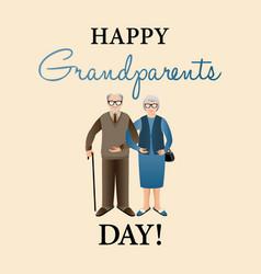 Design template of happy grandparents day vector