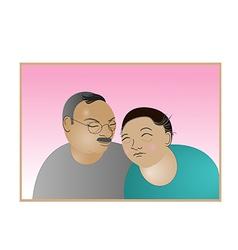 elderly couple love forever vector image