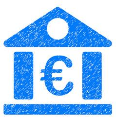 Euro bank museum grunge icon vector