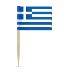 Flag of greece flag toothpick 10eps vector