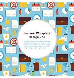 Flat Business Workplace Background vector image vector image