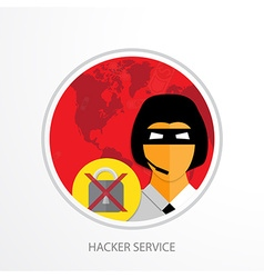 Hacker service web icon vector