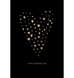 Happy valentines day love greeting card with white vector