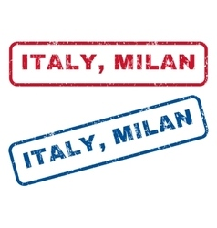 Italy milan rubber stamps vector