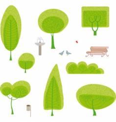 park set vector image