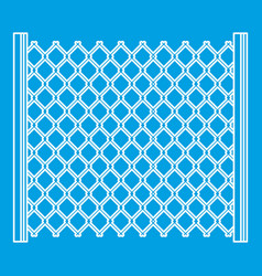 Perforated gate icon outline style vector