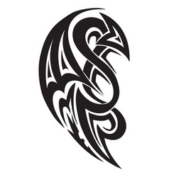 Tribal tattoo design vintage engraving vector