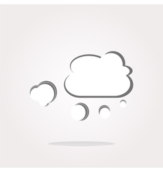 white cloud on internet web icon vector image