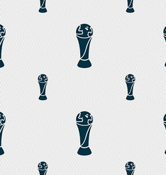 World cup icon sign seamless pattern with vector