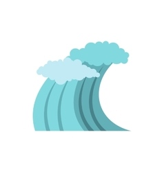 Sea or ocean wave icon flat style vector