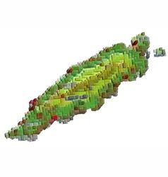 Tobago abstract map vector
