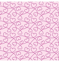 Seamless texture of hearts for a valentine day vector
