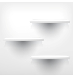 Three empty shelves vector