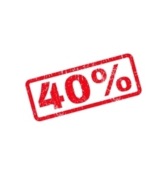 40 percent text rubber stamp vector