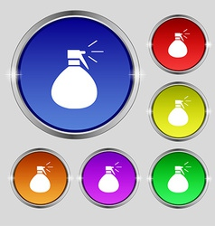 Plastic spray of water icon sign round symbol on vector