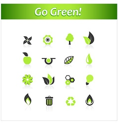 Set of ecology icons art vector