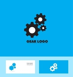 Blue black gear logo concept vector