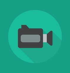 Technology flat icon video camera vector