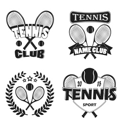 Tennis labels and badges set vector