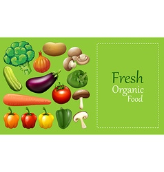 Paper design with many vegetables vector