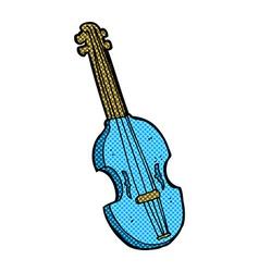 Comic cartoon violin vector