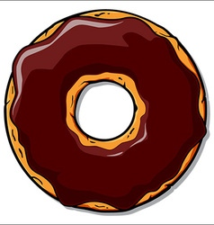 Cartoon donut vector