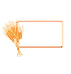 wheat frame vector image