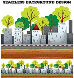 Seamless background design with buildings on the vector