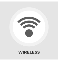 Wireless flat icon vector