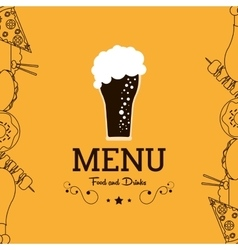 Beer glass icon drink and beverage design vector