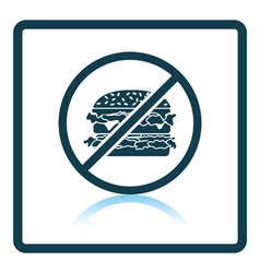 Icon of prohibited hamburger vector
