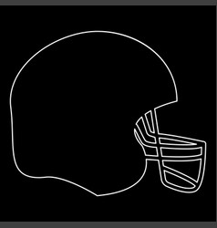 American football helmet the white path icon vector