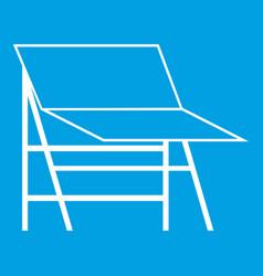blank portable screen icon white vector image vector image