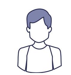 blue contour of half body of faceless male dancer vector image