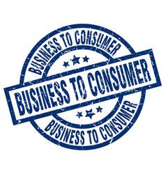 Business to consumer blue round grunge stamp vector
