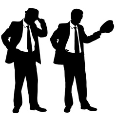 businessmen with hats vector image vector image