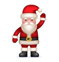 Cartoon santa claus toy character waving hand vector