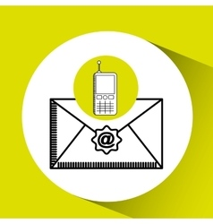 Cellphone email concept send message graphic vector
