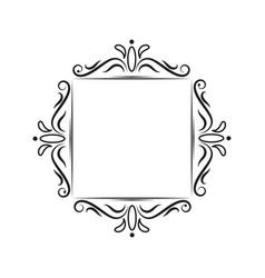 Classic vintage square contour frame vector