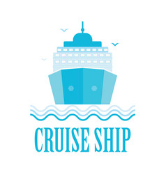 Cruise ship logo isolated on white vector