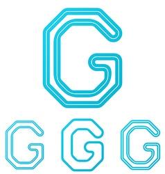 Cyan line g logo design set vector image vector image